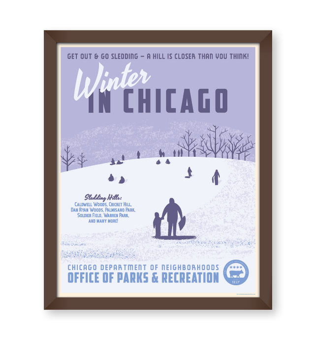 Chicago Winter WPA-Style Tourism 16