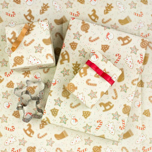"Home For Holidays/Christmas Cookies Holiday Gift Wrap (Set of 3 22"" x 34"" sheets)"