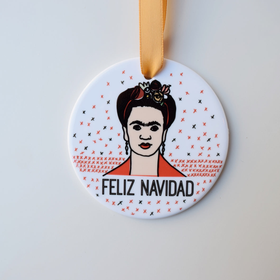 Frida Kahlo Holiday Ornament