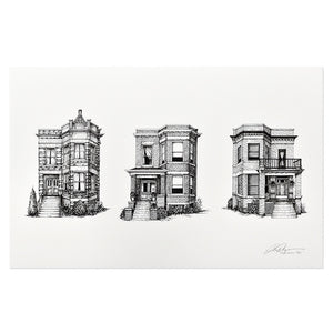 "Chicago Two-Flats 11"" x 17"" Print"