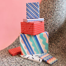Waves Gift Wrap Roll (3 Sheets)