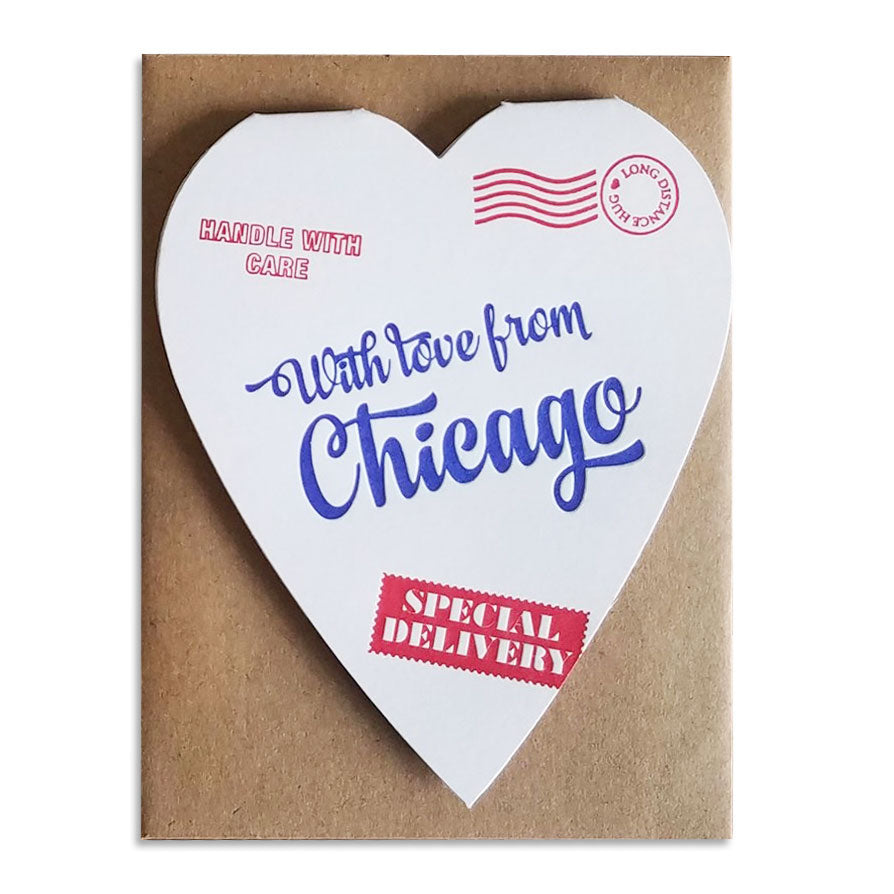 Chicago Mail Delivery Heart Card