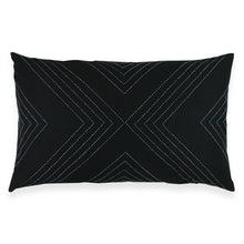"Charcoal Geo 26"" x 16"" Lumbar Pillow"