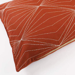 "Prism Rust 26"" x 16"" Lumbar Pillow"
