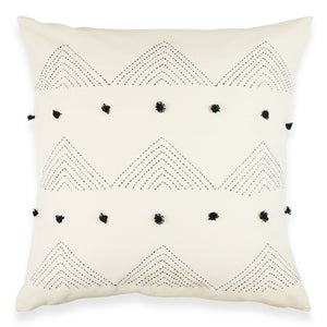 "Triangle Tassel 22"" x 22"" Toss Pillow"