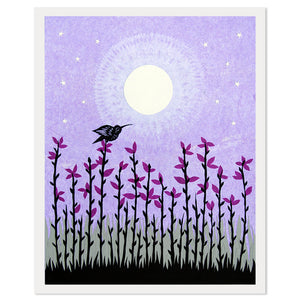 "Moon Blossoms 11"" x 14"" Paper Cut Print"
