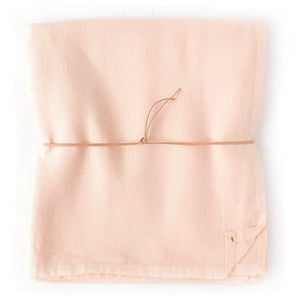 "Nude Peach Linen Square 56"" x 56"" Tablecloth"