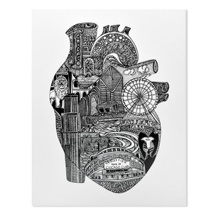 Anatomical Heart of Chicago Print
