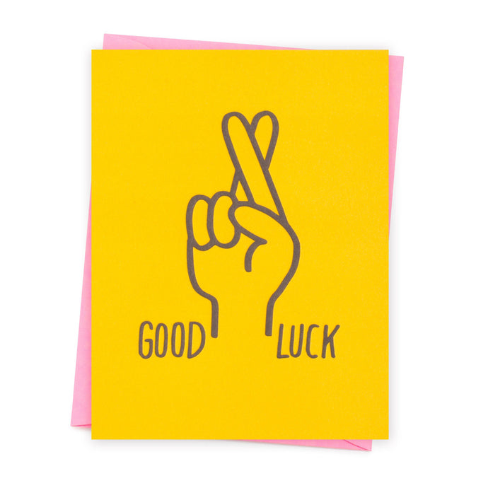 Good Luck Fingers Crossed Card