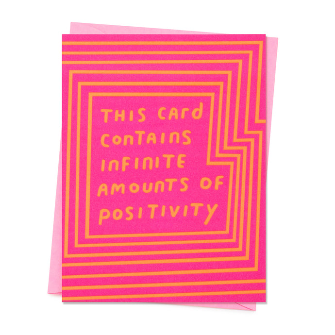 Infinite Positivity Card