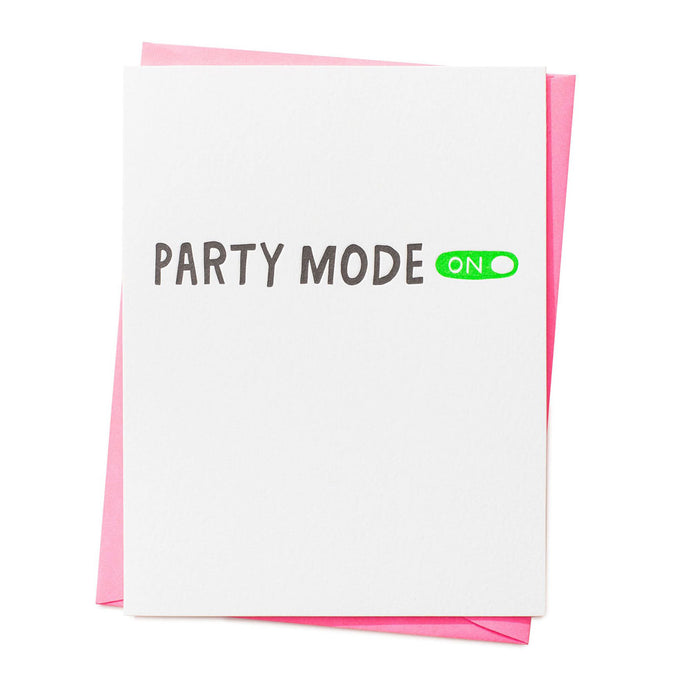 Party Mode On Celebration Card