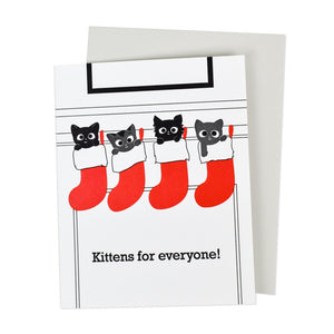 Kittens for Everyone Holiday Card