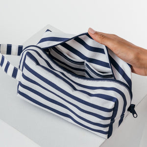 baggu dopp kit travel bag nylon striped pouch