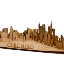 Chicago Skyline Build-Your-Own Cardboard Diorama