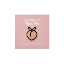 Peach Emoji Enamel Pin