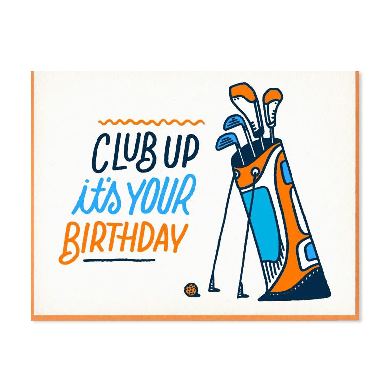 Club Up Golf Birthday Card