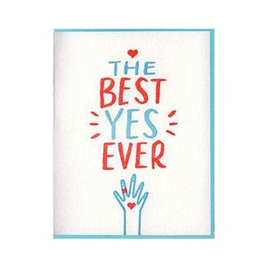 Best Yes Engagement Card