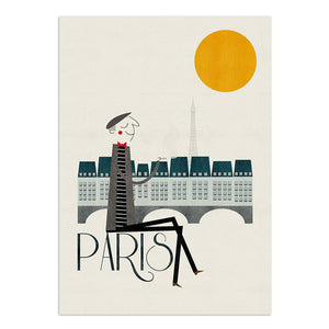 "Paris 8.25"" x 11.75"" Archival Print"