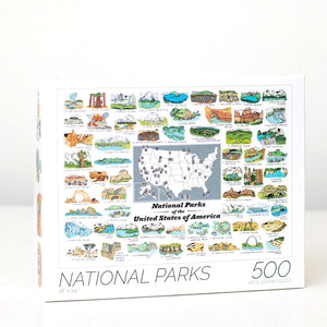 National Parks Illustrated 500-Piece Puzzle