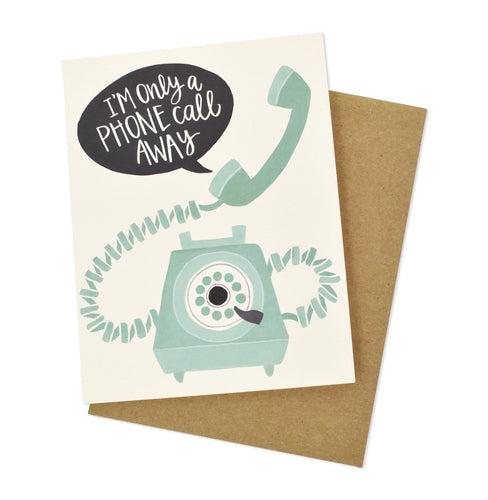 Phone Call Away Card