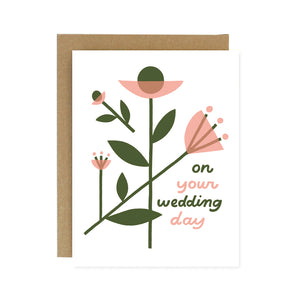 On Your Wedding Day Floral Card
