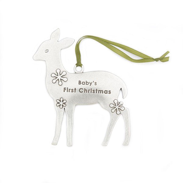Baby's First Christmas Deer Ornament