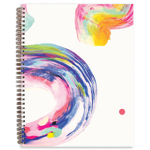 "Candy Swirl Painted Cover 8.5"" x 11"" Sketchbook (Blank Pages)"
