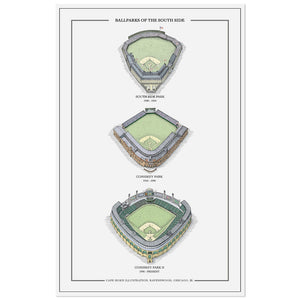 "Baseball Stadiums of the South Side 11"" x 17"" Print"