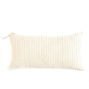 "Crocheted 24"" x 12"" Lumbar Pillow"