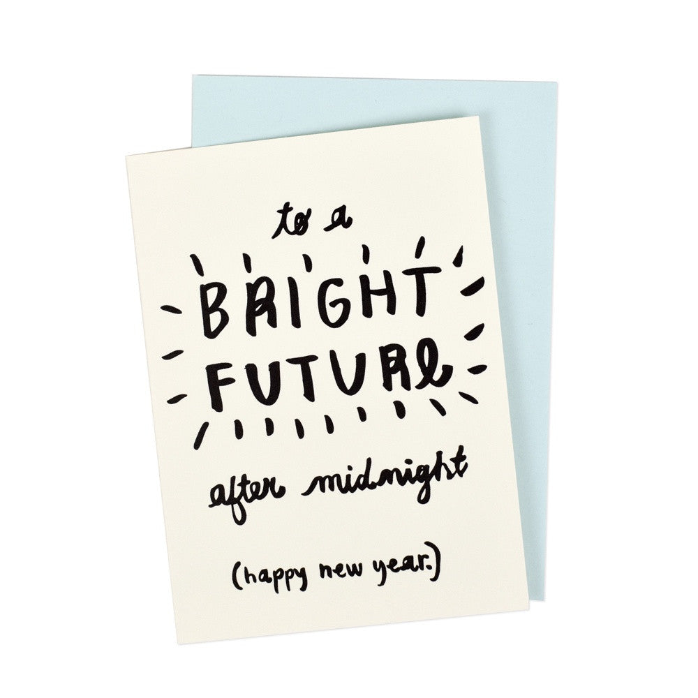 Bright Future New Year's Eve Greeting Card