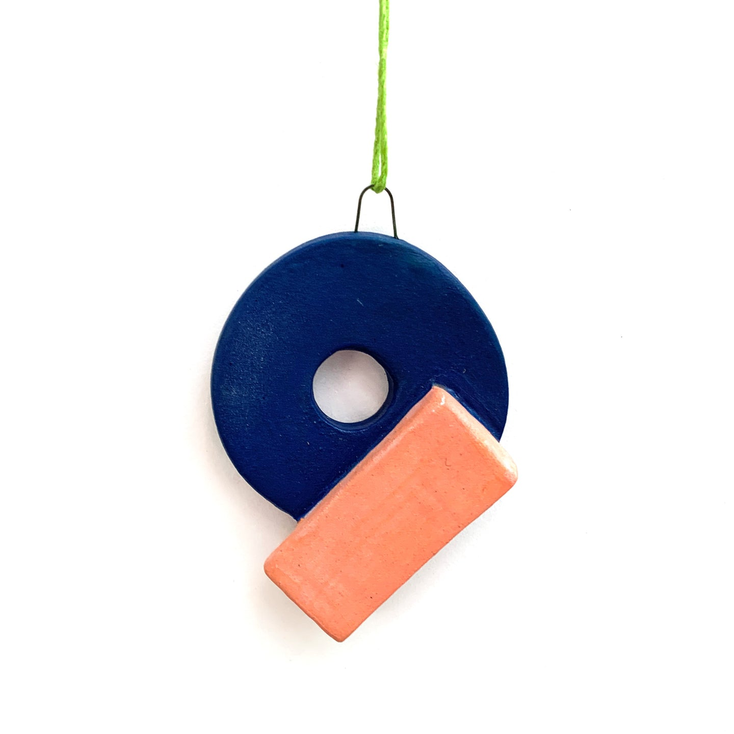 80's Pop Shapes Ceramic Ornament