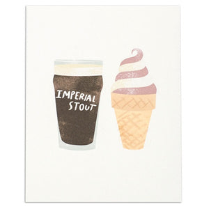 "Stout & Ice Cream 8"" x 10"" Print"