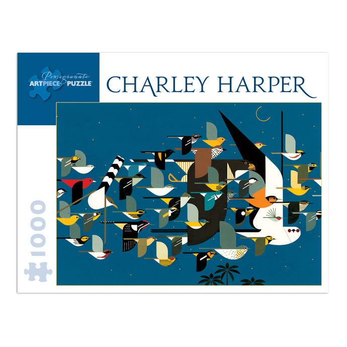 Charley Harper Mystery of the Missing Migrants 1000 Piece Jigsaw Puzzle