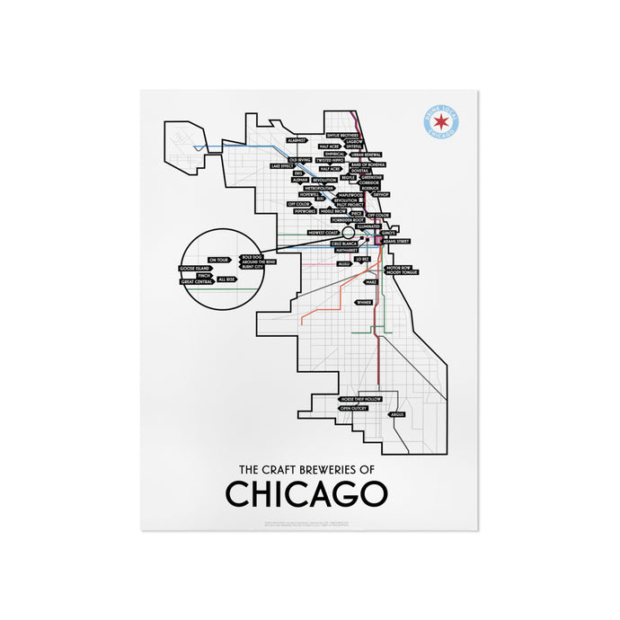 Chicago Craft Brewery Map 11