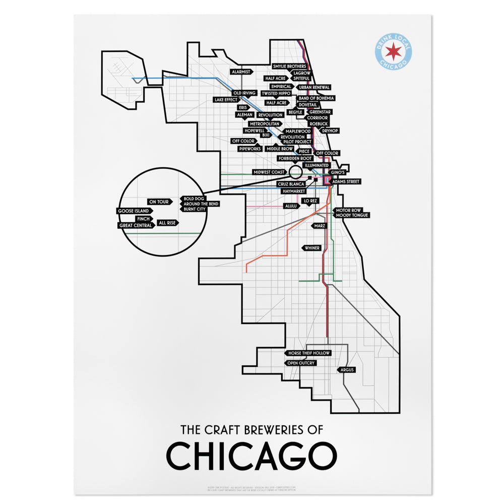 Chicago Craft Brewery Map 18