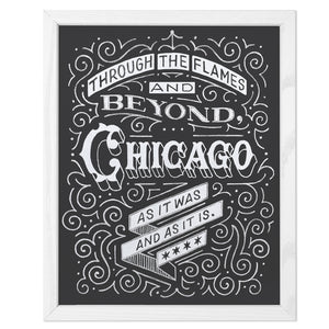 "Chicago Fire Typographic 11"" x 14"" Limited Edition Screen Print"