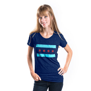 - Chicago Flag Adult Tshirt