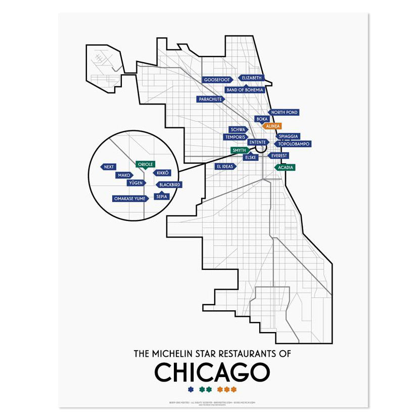 Chicago 2020 Michelin Star Restaurants Map 11