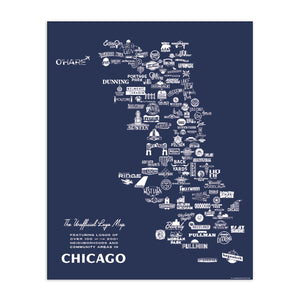 "Neighborhood Logo Map 16"" x 20"" Poster"