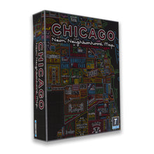 Chicago Neon Signs Neighborhood Map 1000 Piece Jigsaw Puzzle