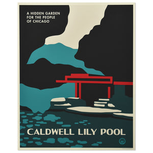 "Caldwell Lily Pool 16"" x 20"" Tourism Poster"