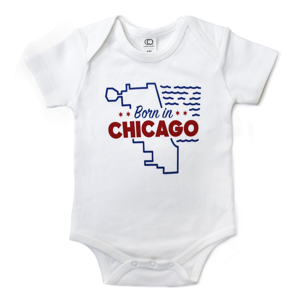 Born in Chicago Baby Onepiece or Toddler Tshirt