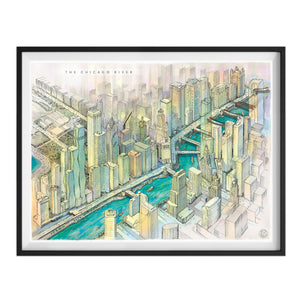 "The Chicago River 18"" x 24"" Print"