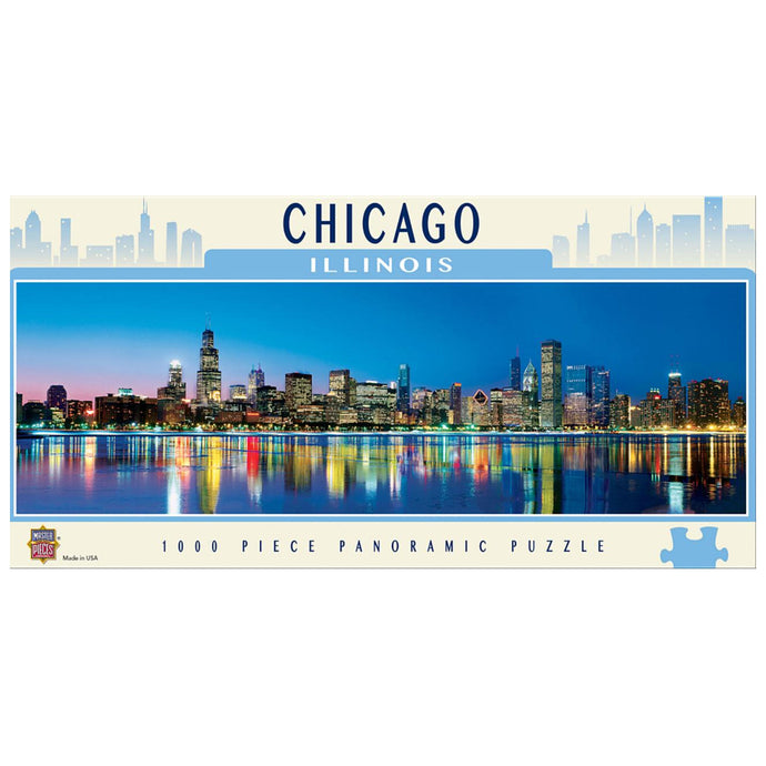 Chicago Panoramic Skyline 1000 Piece Jigsaw Puzzle