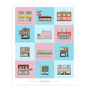 "Storefronts of Chicago 16"" x 20"" Archival Print"