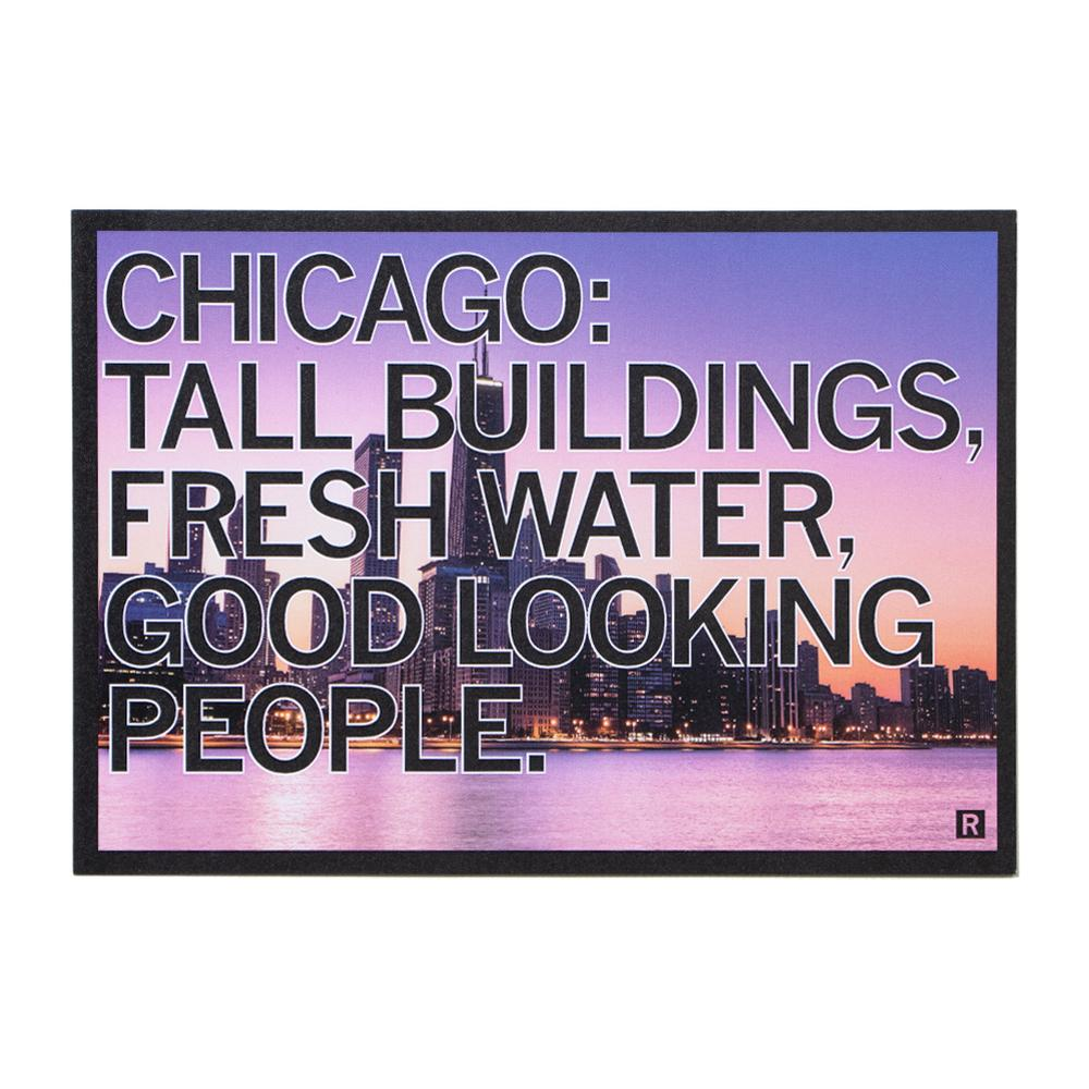 Chicago Tall Buildings Photo Postcard
