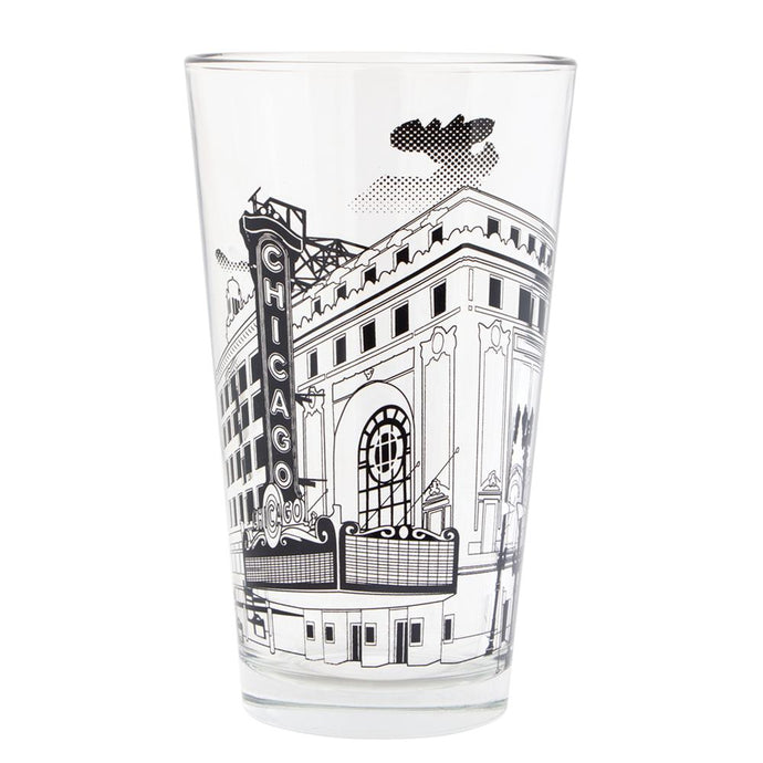 Chicago Theatre Pint Glass