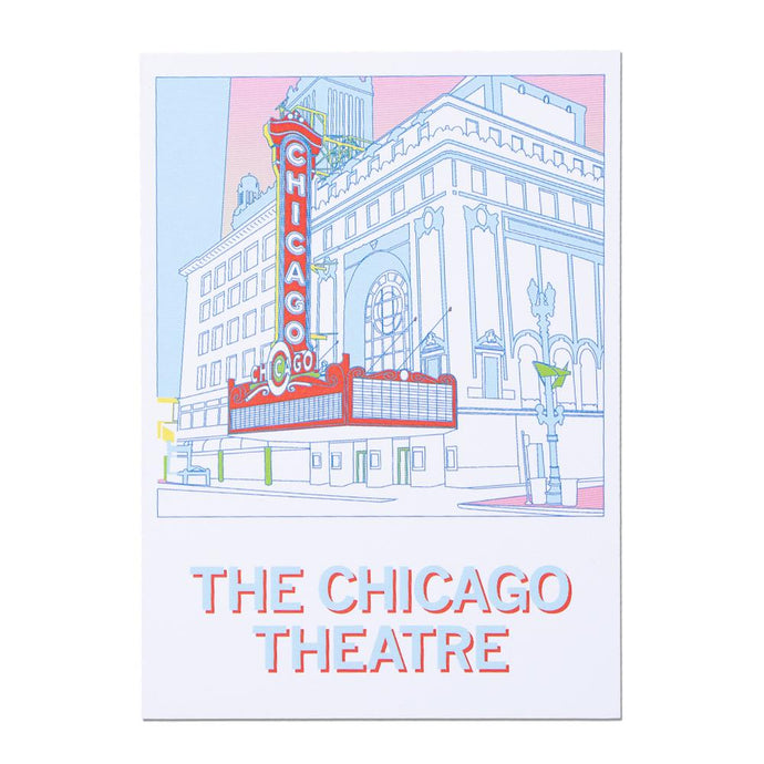 Chicago Theatre Illustrated Postcard