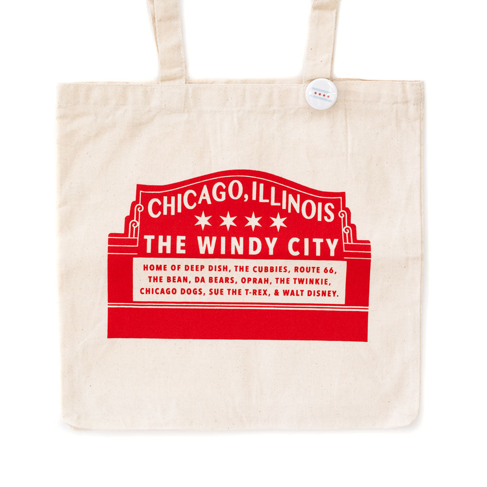Chicago Wrigley Field Sign Tote Bag