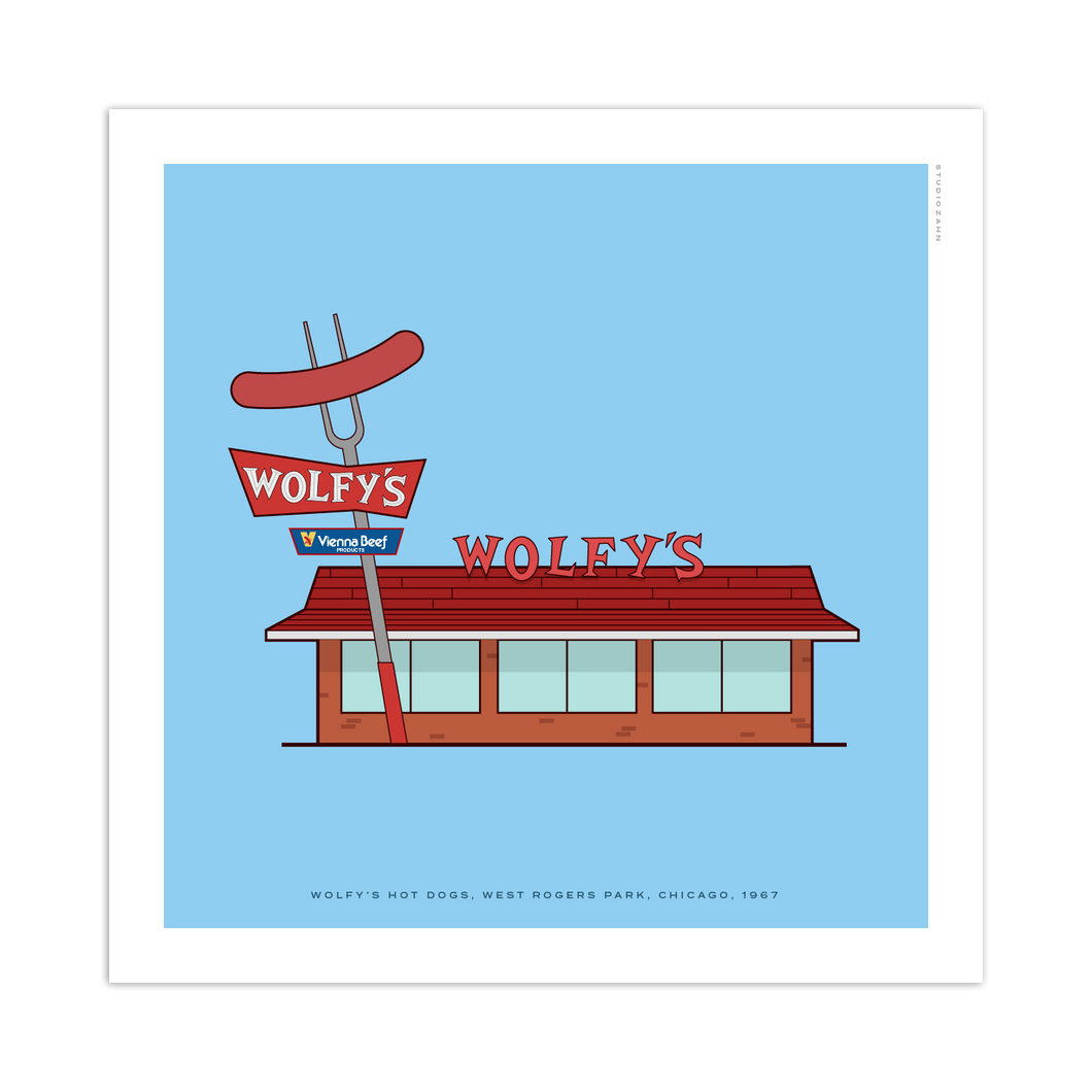 Wolfy's Hot Dogs Chicago Storefront 8